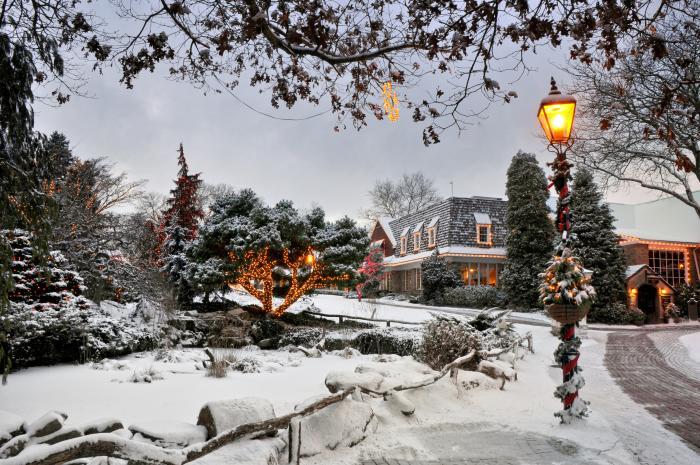 Peddler's Village in Snow