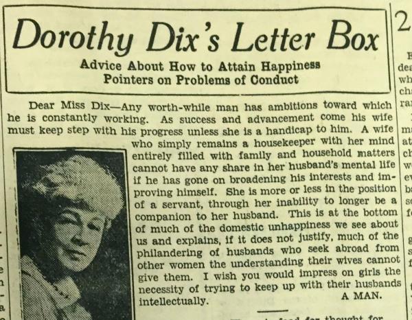 Dorothy Dix's Letter Box