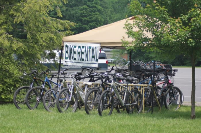 Biking the McDade Trail in the Pocono Mountains