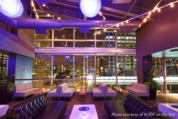 Interior of ROOF on the Wit in Chicago