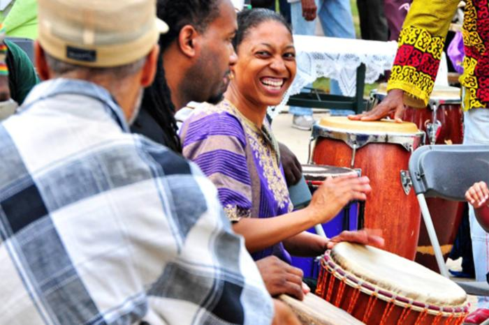 Performers at the Chicago African Festival of the Arts