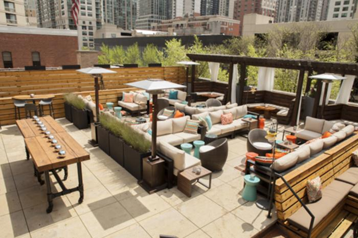 Dining patio at ZED451 in Chicago