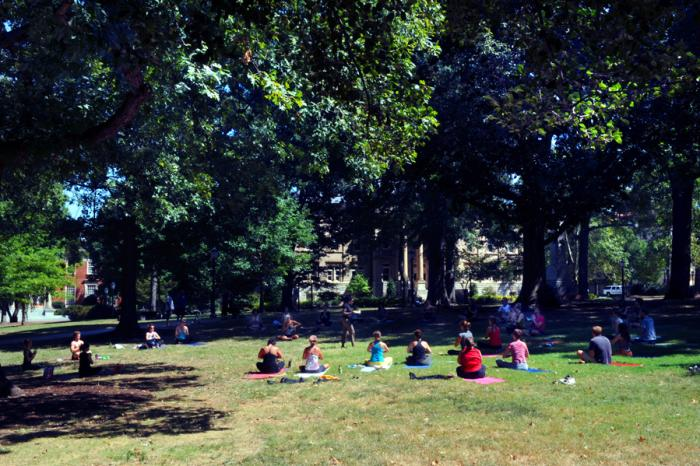 Yoga on the Quad