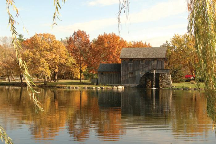 Midway Village in the fall