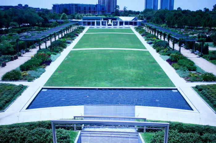Aerial view of McGovern Centennial Gardens in Houston