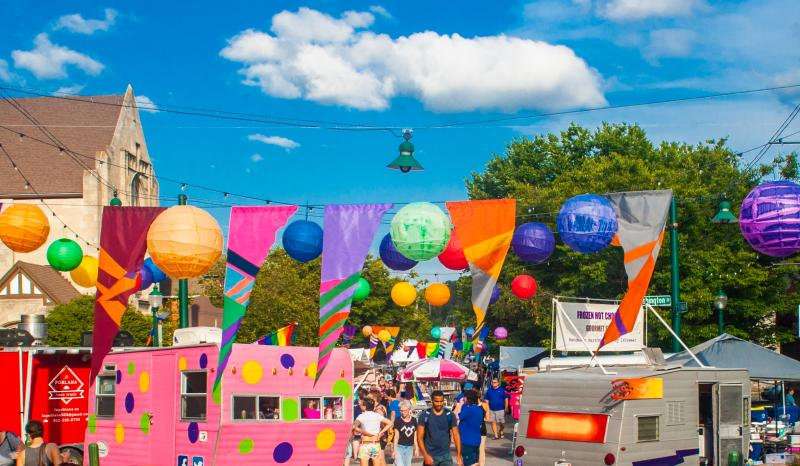Food trucks at Bloomington Pride Fest
