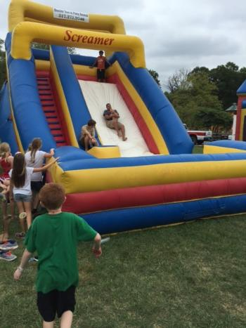 Inflatable Slide at the 2015 Avon Community Heritage Festival