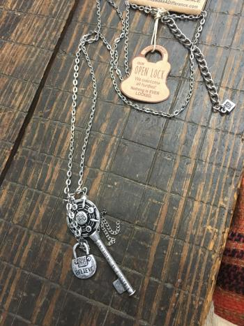 Good Works Blessing Keys necklaces and bracelets are available at Sweet M's Boutique in Plainfield