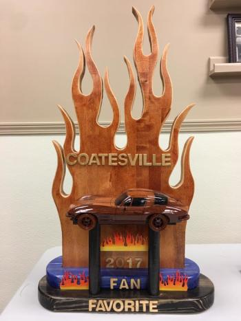Custom Fan Favorite trophy to be handed out at Cruisin' in Coatesville on Saturday (photo courtesy of Cruisin' in Coatesville Car Show & Street Fair Facebook page)