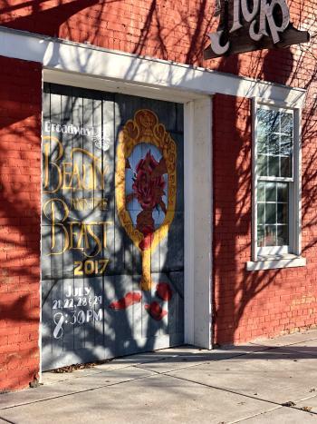 Lindsborg Beauty & the Beast Mural - Rebekah Baughman Blog
