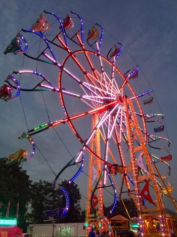 The carnival at the Hendricks County 4-H Fair is very popular.