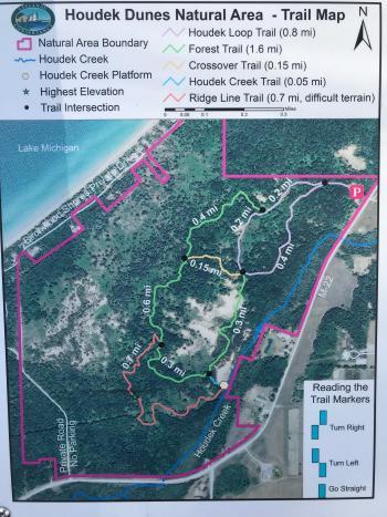 Houdek Dunes Natural Area Trail Map