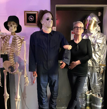 Jamie Lee Curtis at the Museum of the Bizarre