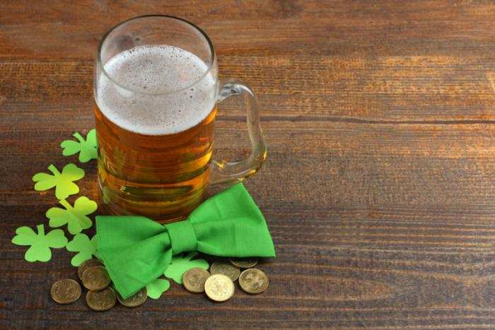 St. Patrick's Day decorations and beer at Hogan's Irish Pub in Cape Canaveral