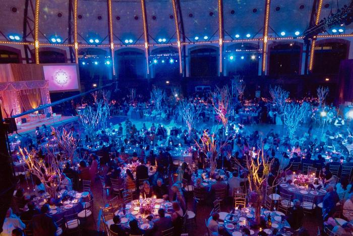 Decorated Aon Grand Ballroom at Navy Pier in Chicago