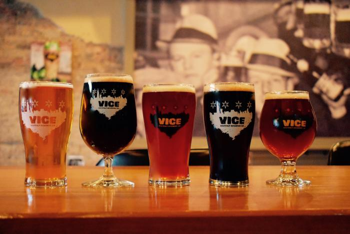 Vice District Brewing Pint Glasses