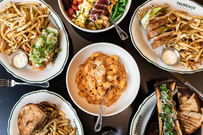 French food dishes at Taureaux Tavern in Chicago