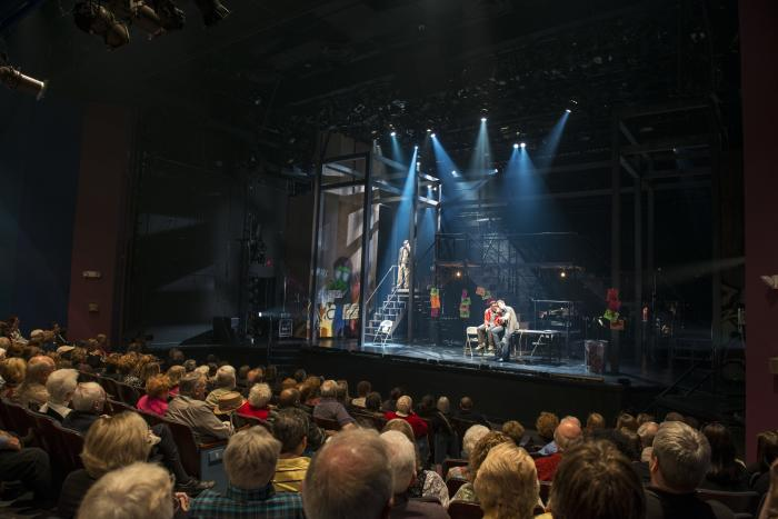 Rent with audience at Bristol Riverside Theatre