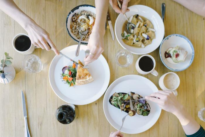 Food dishes at Cellar Door Provisions restaurant in Chicago