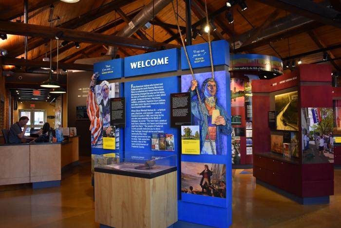 Welcome Wall inside the Visitor Center