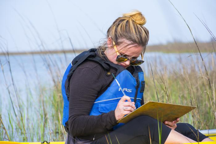 Artist Boat - Galveston kayaking