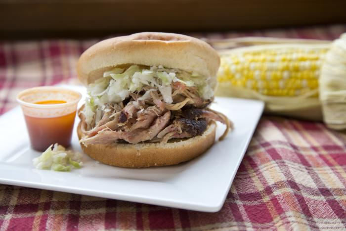 New Market BBQ sandwich