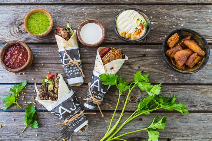 Wraps and dips from SAJJ Mediterranean