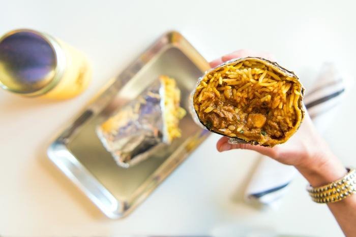 Curry Up Now Tikka Masala Burrito