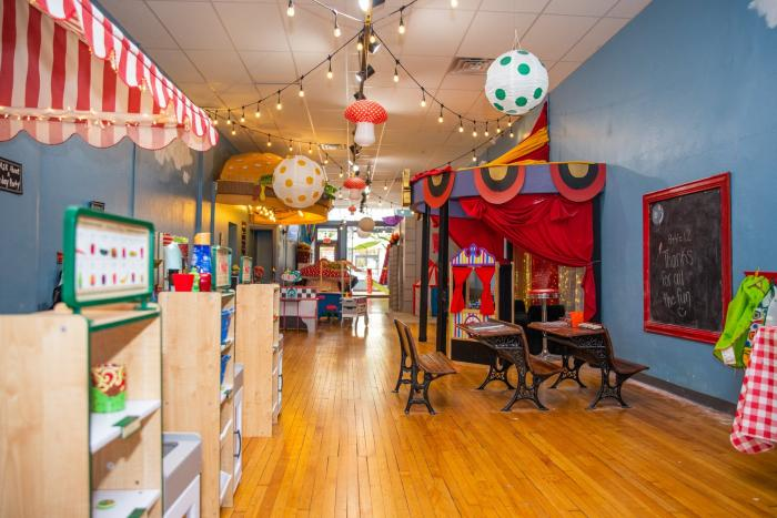 Play area at the Curious Little Playhouse