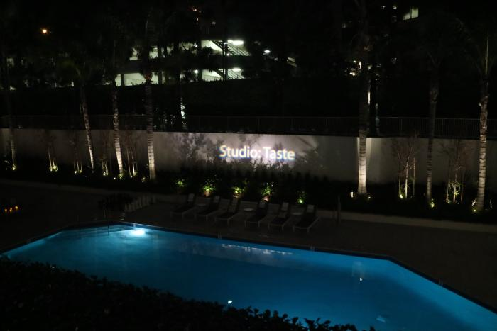 Irvine Marriott Pool at Night