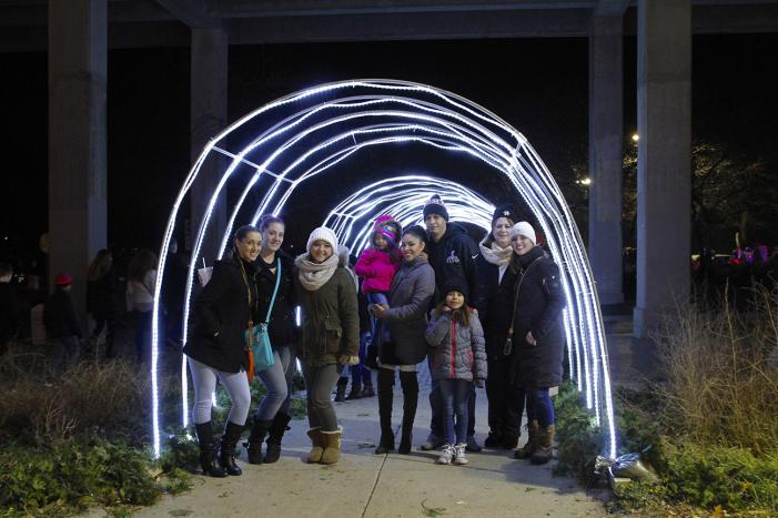 light tunnel at Stroll on State