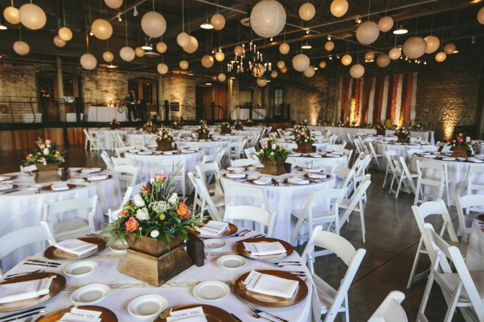 Prairie Street Brewhouse wedding tables