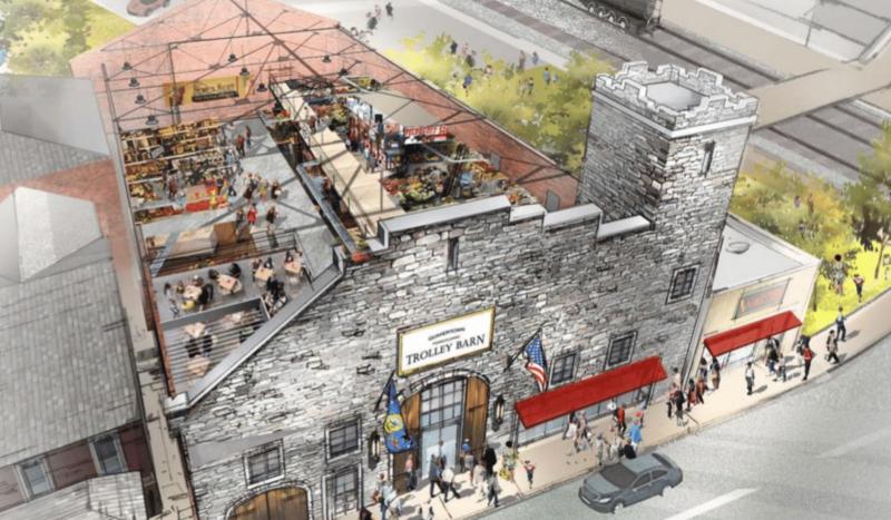 Quakertown Trolley Barn rendering