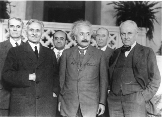Albert Michelson and Albert Einstein