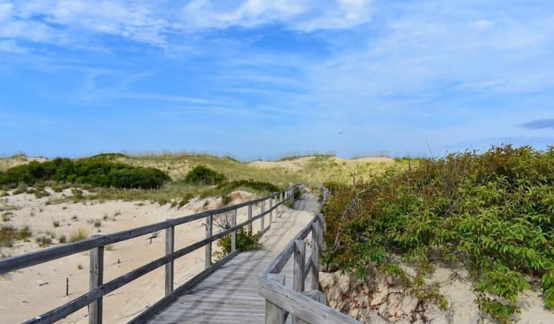 Boardwalk at the Back Bay National Wildlife Refuge