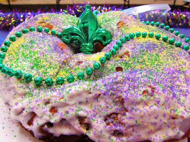 King Cake with Fleur de Lis