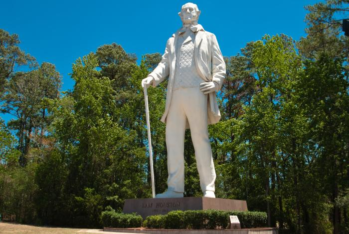 Sam Houston Statue in Huntsville, TX