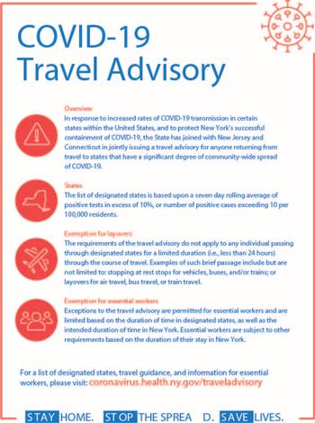 COVID-19 Travel Advisory