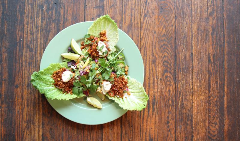 FARM - Napa Cabbage Tacos