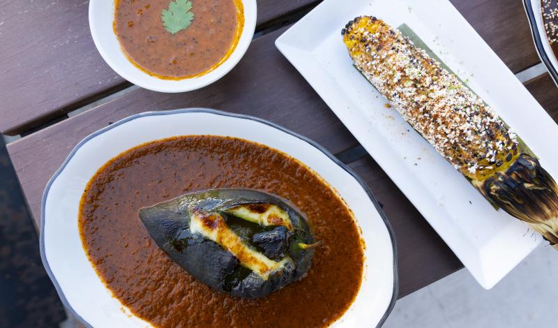 chile rellenos, street corn