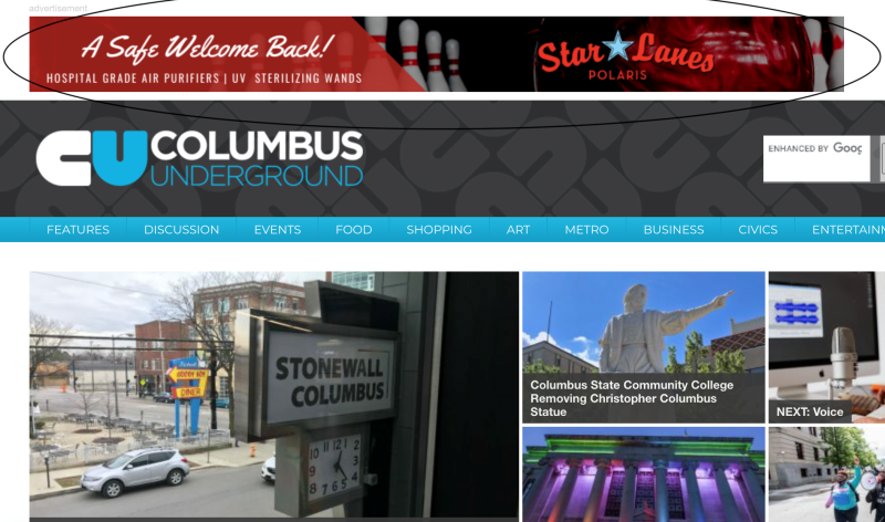Columbus Underground Leader board Example