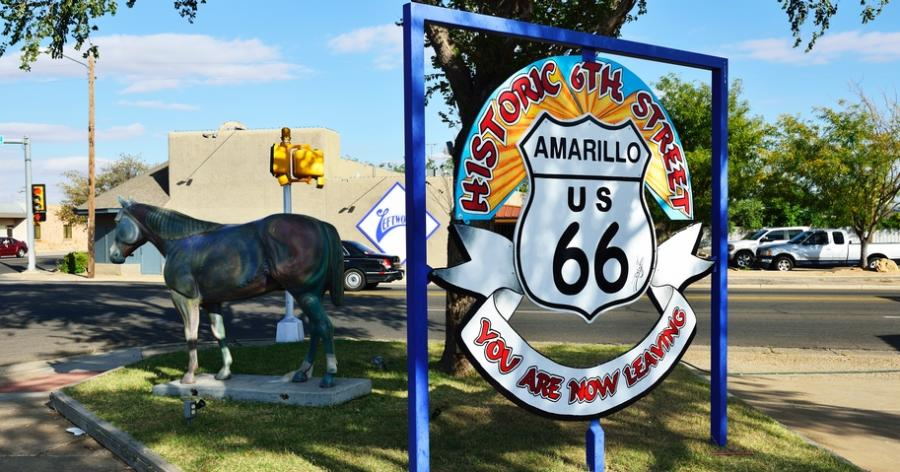 historic route 66 in amarillo