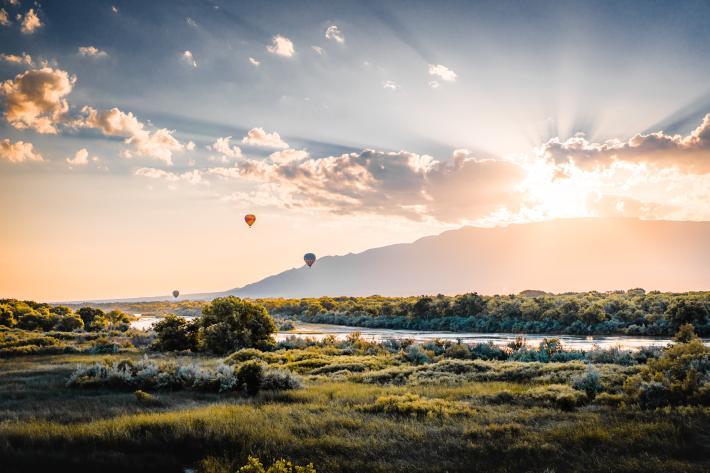 Albuquerque Balloon Oxbow Bluff