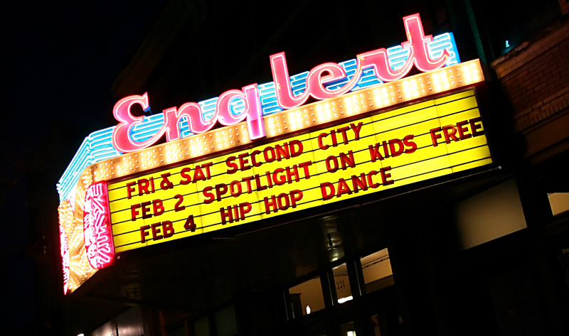 Englert Theater Marquee