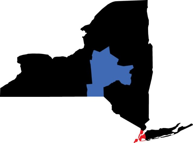 NYC to Central NY Map