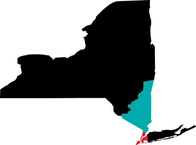 NYC to Hudson Valley Map