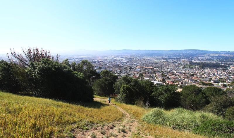 Panoramic views from Sign Hill in South San Francisco California