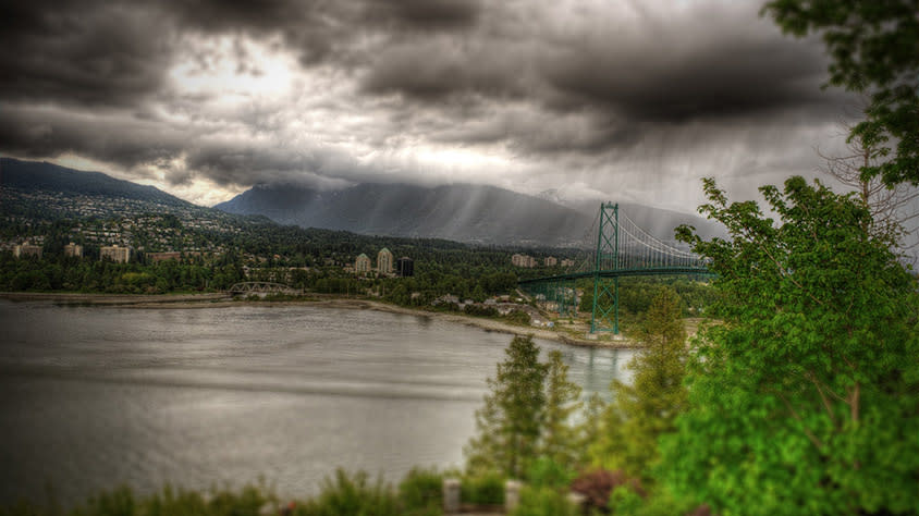 Rain Clouds and the Lions Gate Bridge