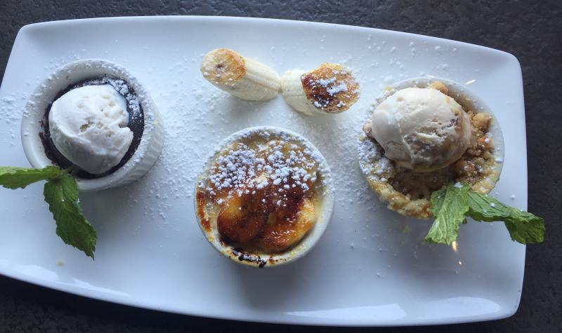 Yard House Dessert Trio
