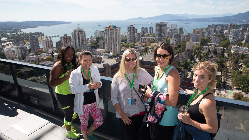 SeaWheeze FAM: Group at the Sheraton Vancouver Wall Centre Hotel